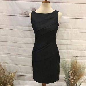 Calvin Klein Gray Tiered Sleeveless Sheath Dress